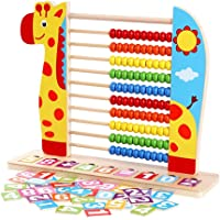 Kids Wooden Abacus Classic Counting Tool Toys Small Calculator, Montessori Toy Counting Frame Educational Toy Children Gift (Color : Yellow)