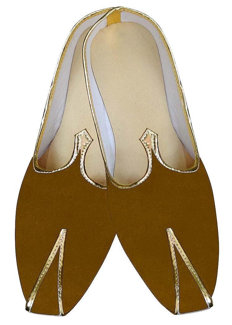 INMONARCH Mens Sherwani Shoes Mustard Wedding Shoes Partywear Juti MJ013289