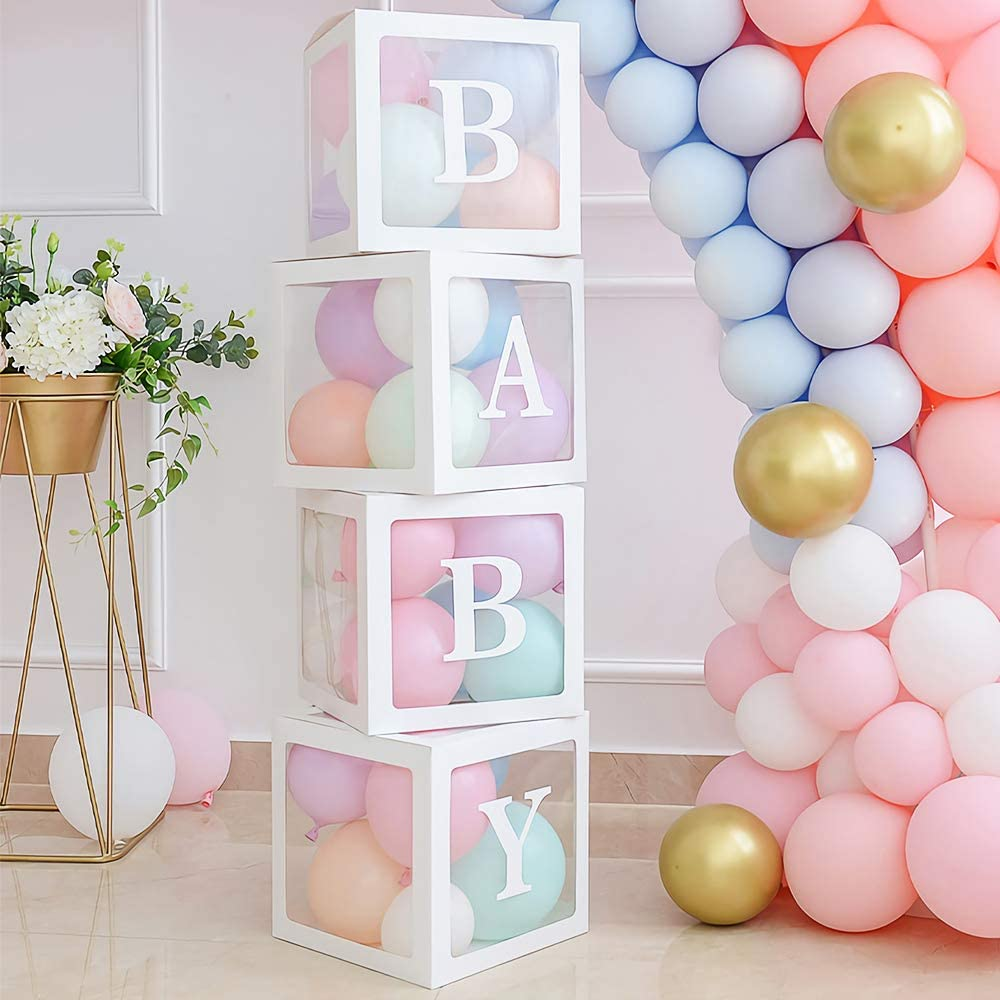 12 Baby Shower Block LETTERS Only custom name available Baby shower decor Gender Reveal decor-Box NOT INCLUDED Nursery decor