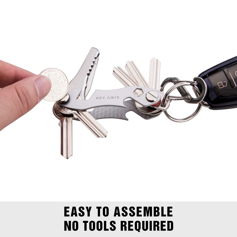 Amazon.com: Key Axis - Organizador compacto para llavero ...
