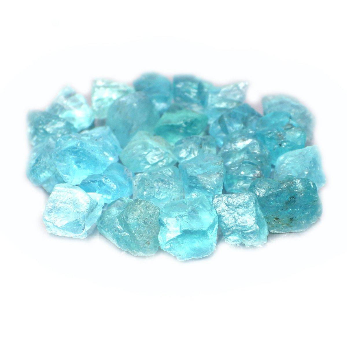 50.00 Ct. Unheated Natural Rough Neon Blue Apatite Specimen