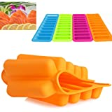 Slaxry New Food-grade Silicone Cylinder Ice Cube Tray Freeze Mould Pudding Chocolate Mold 1PC