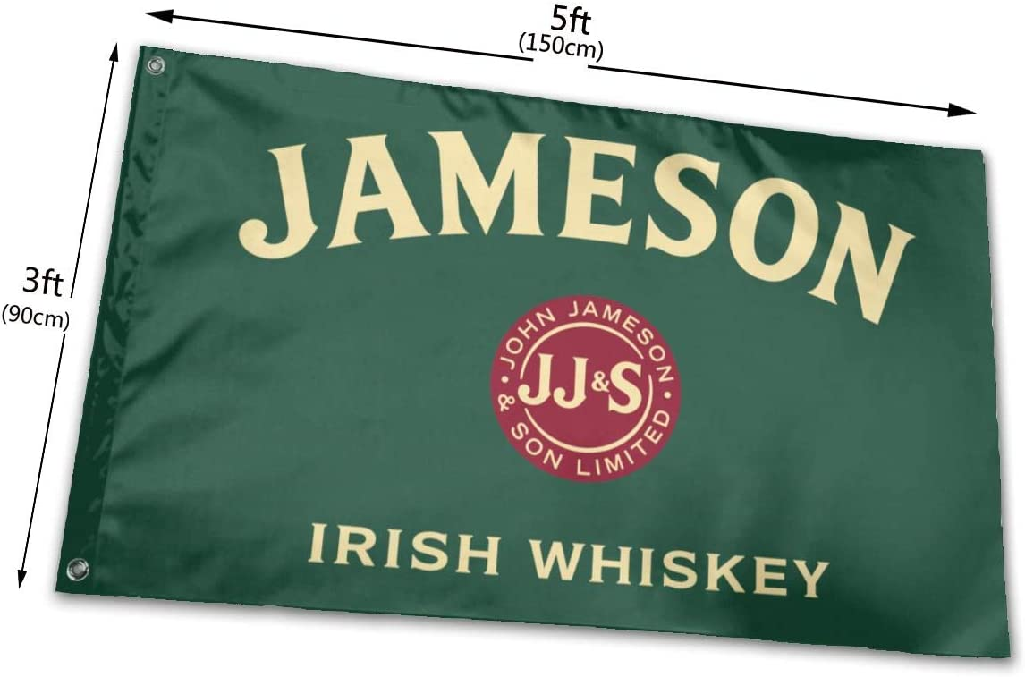 RONGANDHE Jameson Irish Whiskey Flag Banner 3x5 Feet Man Cave Party Garden House Outdoor style1