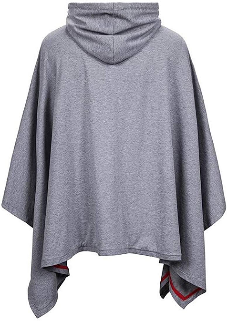 MOUTEN Mens Sweatshirt Loose Fit Cloak Casual Cape Pullover Hoodies Sweatshirt