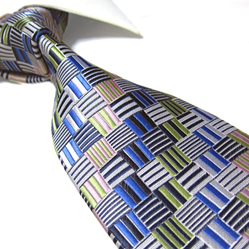 Extra Long Towergem Fashion Tie,Multicolored XL Men's Woven Necktie 63""""