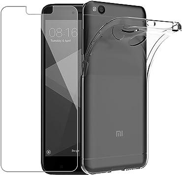 Yoowei Funda + Cristal Templado para Xiaomi Redmi 4X, Transparente ...