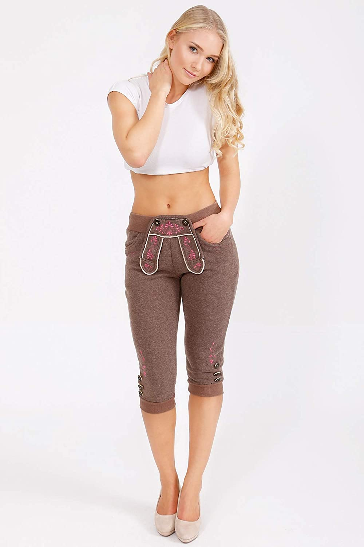 Krüger Madl Mujer Pantalón de chándal Pantalones marrón en Piel ...