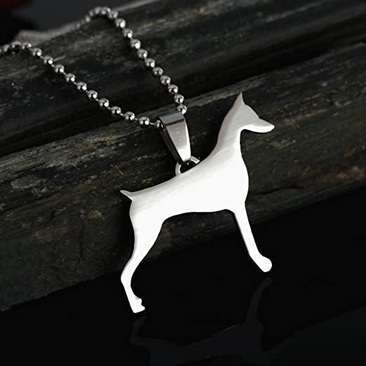 Photo-Jewelry Dog Pendant for Dog Lovers Handmade Doberman uncropped