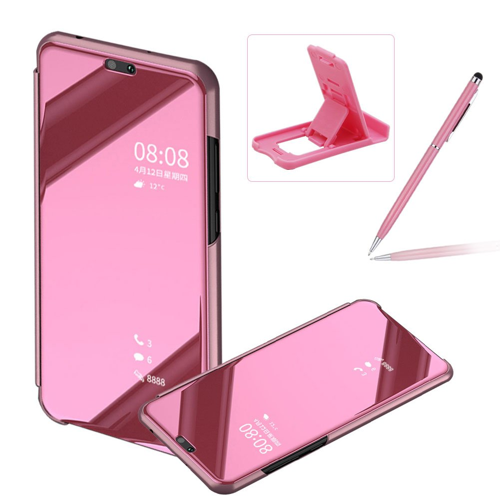 クリアウィンドウビューケースfor Huawei p20、BookstyleミラーめっきPUレザーケーススタンドカバーHuawei p20、herzzerラグジュアリーノーブルミラー効果メッキメタル Huawei P20 ProB07CTJN4R3Huawei P20 Pro|Color #1Color #1Huawei P20 Pro