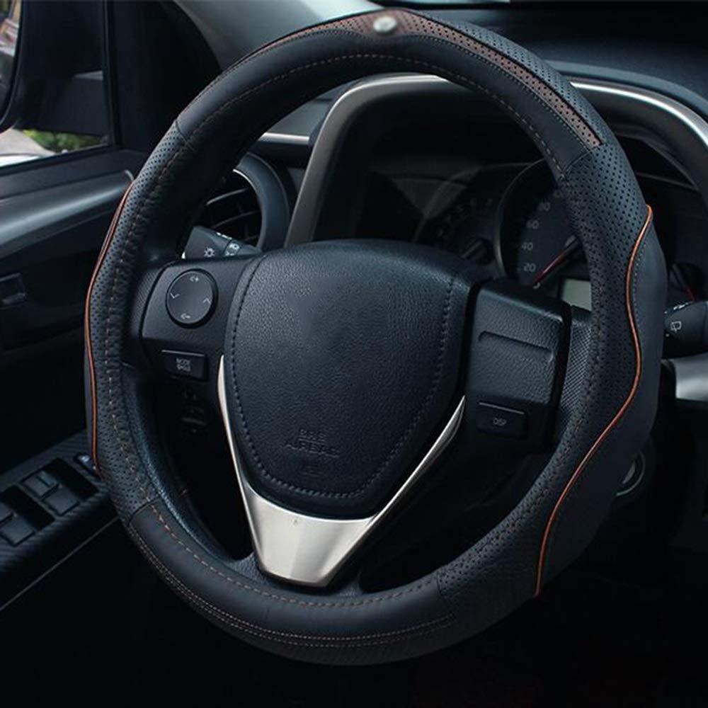 color : E Cubierta del volante del coche cubierta universal del tim/ón del coche 38CM antideslizante universal de cuatro estaciones