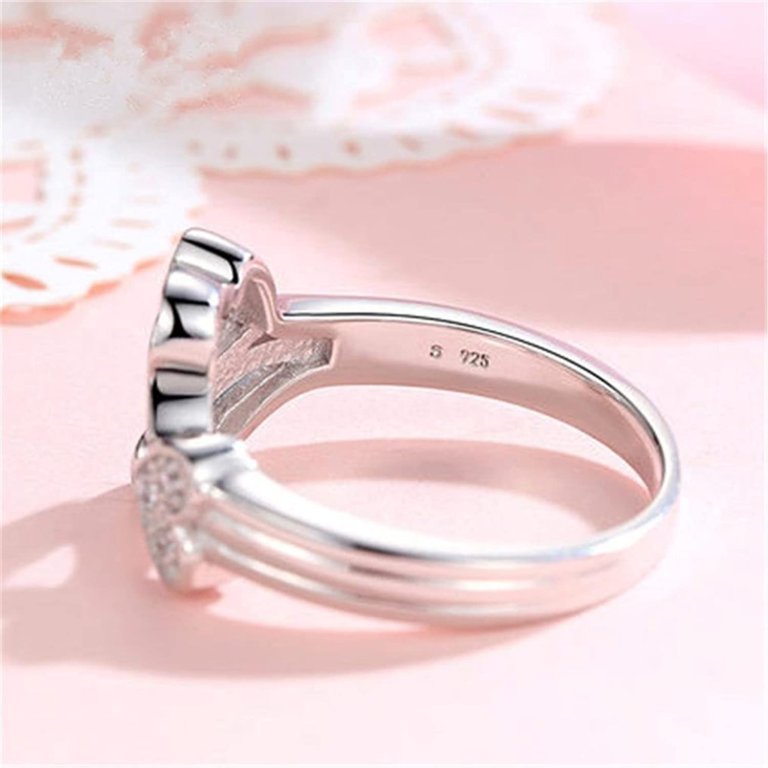 Amazon.com: Alonea Heart Ring, Women Creative Fashion Heart Love ...