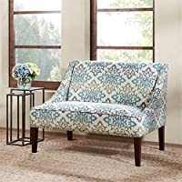 Avalon Swoop Arm Settee Teal See below