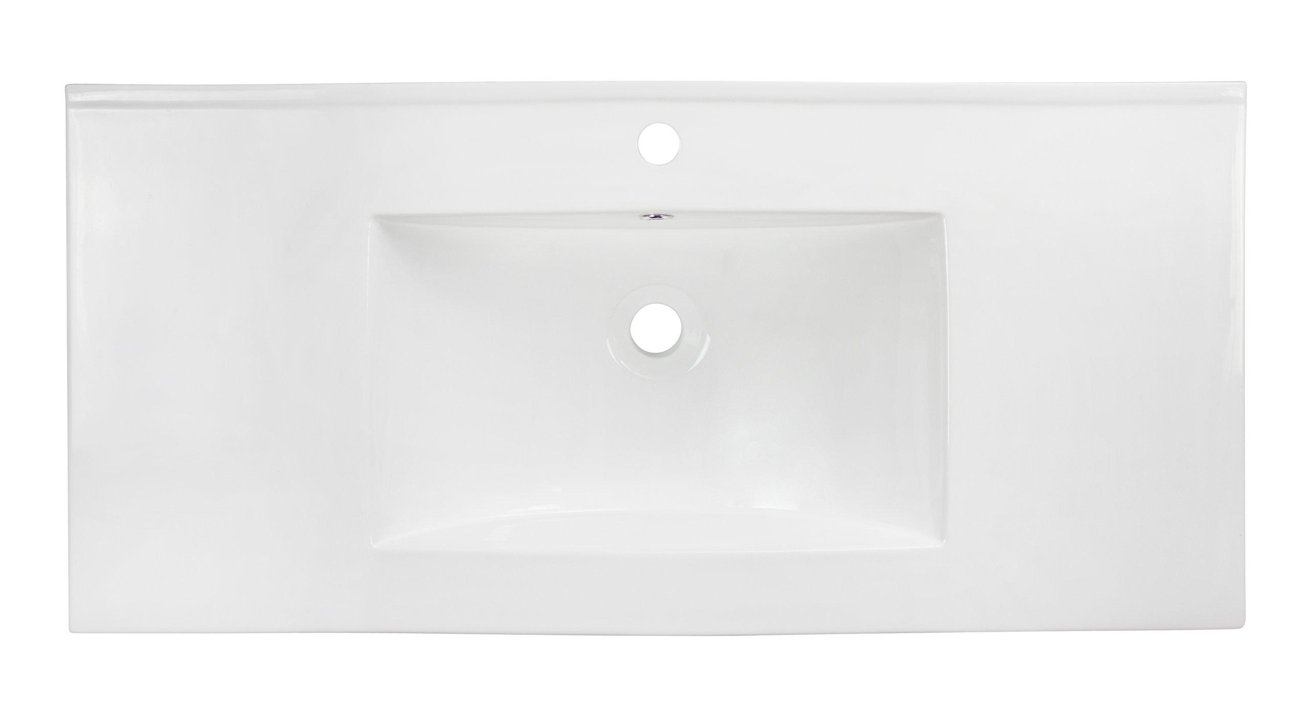 American Imaginations 659   36-Inch  X 18-Inch  White Ceramic Top with Single Hole by American Imaginations (Image #4)
