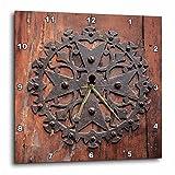3dRose Danita Delimont - Doors - Spain, Balearic Islands, Mallorca, Arta. Decorative Key hole - 13x13 Wall Clock (dpp_277914_2)