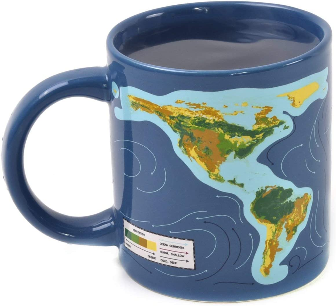 Climate Change Disappearing Coffee Mug - Add Hot Liquid and Watch What Will Happen When The Ice Caps Melt - Comes in a Fun Gift Box - by The Unemployed Philosophers Guild