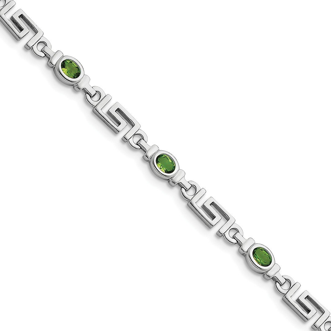 ICE CARATS 925 Sterling Silver Green Peridot Bracelet 7.50 Inch Gemstone Fine Jewelry Ideal Gifts For Women Gift Set From Heart