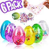 Synmila Soft Slime Egg 6 Pack Squishy DIY Crystal Putty Slime Kit Color Sludge Slime Squishies Toy with Colorful Pearl Mud Fruit Slices Gift Scented Stress Relief Toy Party Favor for Kid Prime Deals