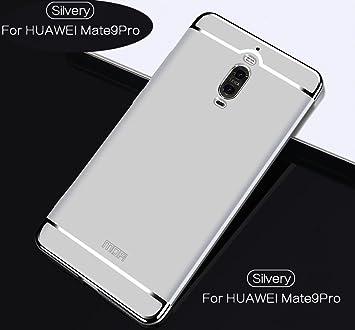 Funda Huawei Mate 9 Pro,2ndSpring Carcasa Huawei Mate 9 Pro Luxury 3 en 1 Desmontable Ultra-Delgado Anti-Arañazos Funda para Huawei Mate 9 Pro Plata