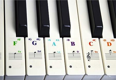 Pegatinas de piano de color Ganxi con notas completas sobre ...