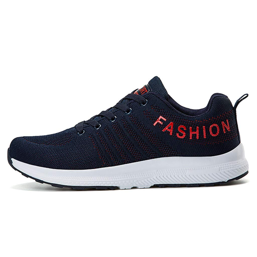 refulgence Mens Sneakers Running Shoes Lightweight Casual Mesh Walking Training Sports Athletic Shoes (Dark Blue,US:8) by refulgence