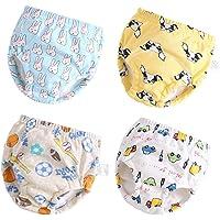 Toddler Potty Training Pants 4 Pack,Cotton Training Underwear Size 2T,3T,4T,Waterproof Underwear for Kids