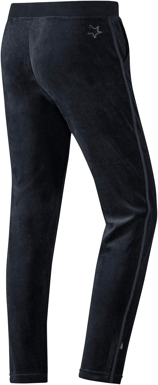 Lange Freizeithose in stylischem Design aus kuscheligem Baumwoll-Velours-Jersey Joy Sportswear SARA Relaxpants f/ür Damen f/ür die Freizeit und zu Hause