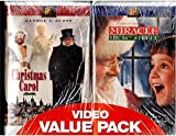 A Christmas Carol/Miracle on 34th Street (VHS Video Value Pack)