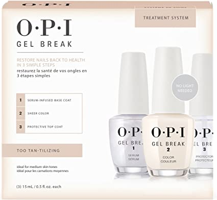 OPI Gel Break – Treatment Sistema Kit – Adhesivo Tan tilizing – 15 ml/0.5oz each: Amazon.es: Belleza
