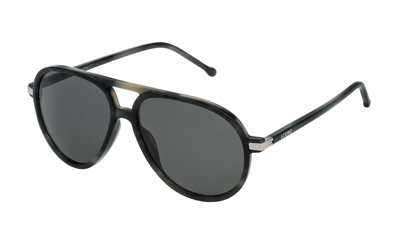 Loewe SLW972M5696NP Gafas de Sol, Matte Grey Havana, 56 para ...
