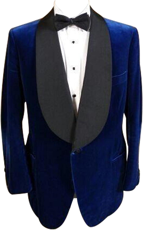 HBDesign Mens 2 Piece 1 Button Peak Lapel Slim Fit Baby Blue Suit