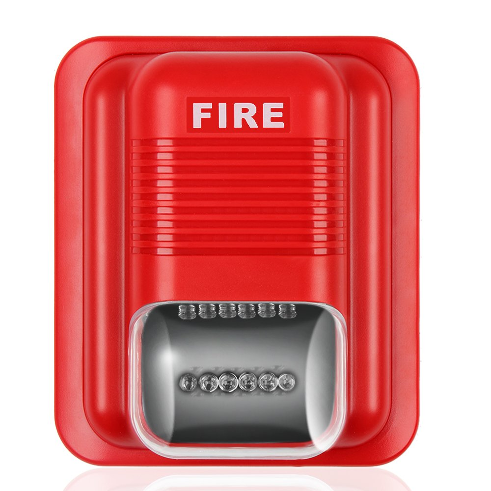 Light and sound siren. Fire alarm system