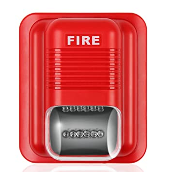 Flexzion Fire Alarm Horn Siren Strobe Quick Alert Safety System ...