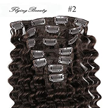 Amazon curly brown clip in hair extensions 100 remy human curly brown clip in hair extensions 100 remy human hair deep curl deep wave clip pmusecretfo Image collections