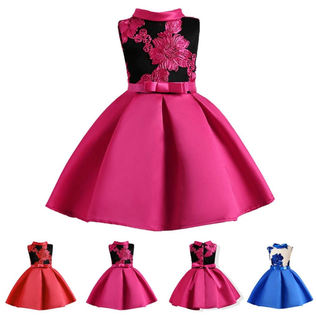 Vestido de niñas, ❤ Manadlian ❤ Vestido de Flores Boda Niña ...