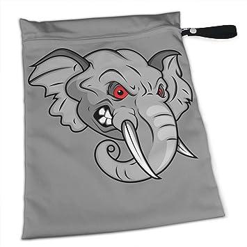 Amazon.com: Hlinksy Cartoon Angry Elefante reutilizable ...
