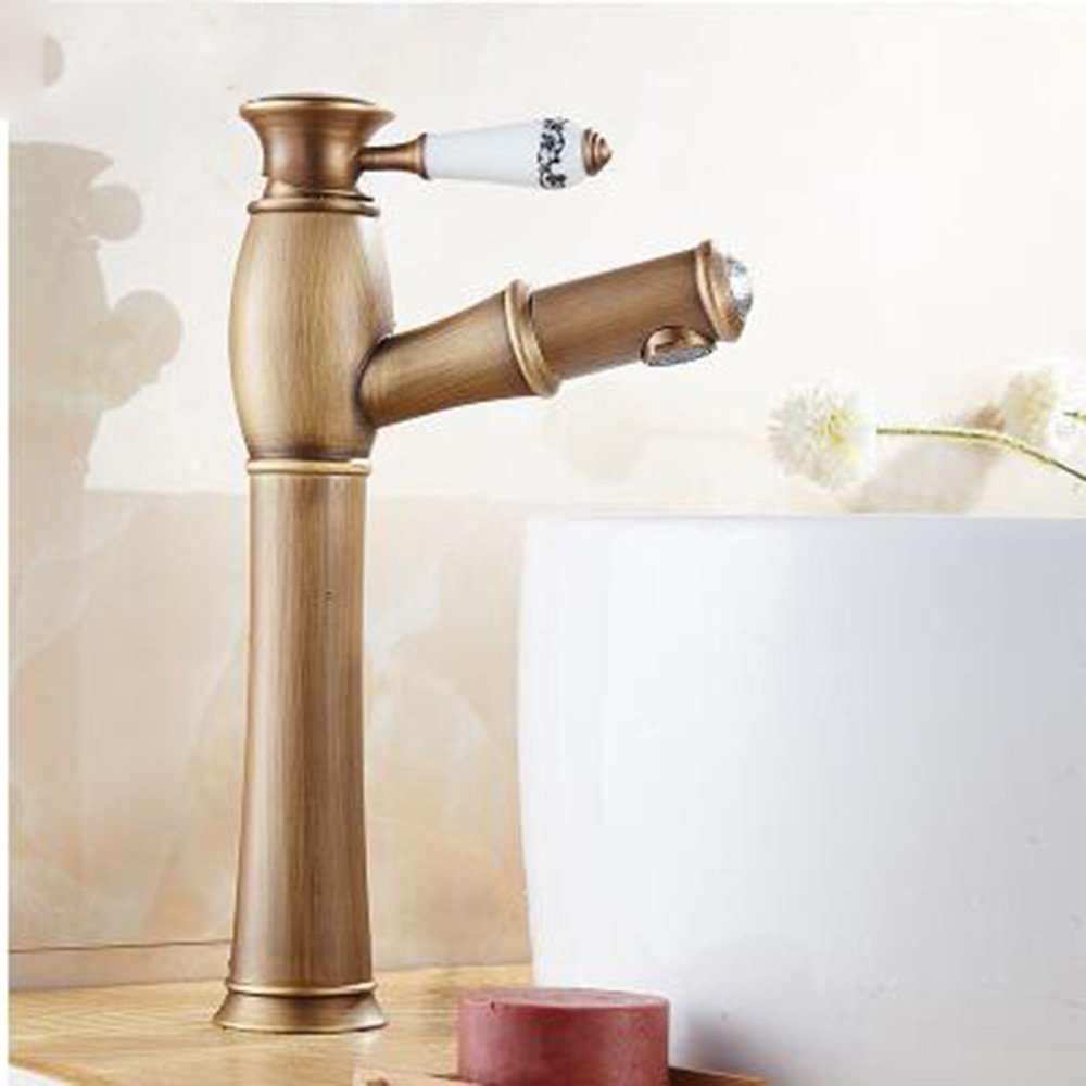 A Hlluya Professional Sink Mixer Tap Kitchen Faucet The copper basin faucet antique pull-down faucet,