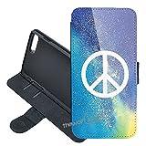Galaxy J3 Emerge, J3 Prime, J3 Luna Pro, Express Prime 2 / Amp Prime 2 / J3 (2017) Case, Peace Sign PU Leather...