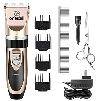 Dog Shaver Cllippers Low noise Oneisall Rechargeable Cordless Electric Queit Hair Clippers Set for Dog Cat