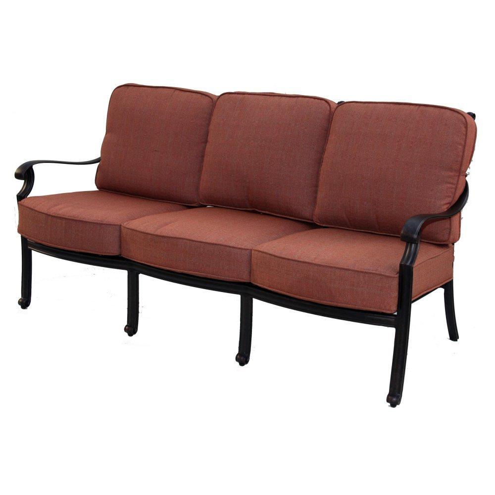Amazon com darlee st cruz outdoor sofa with cushions in antique bronze garden outdoor