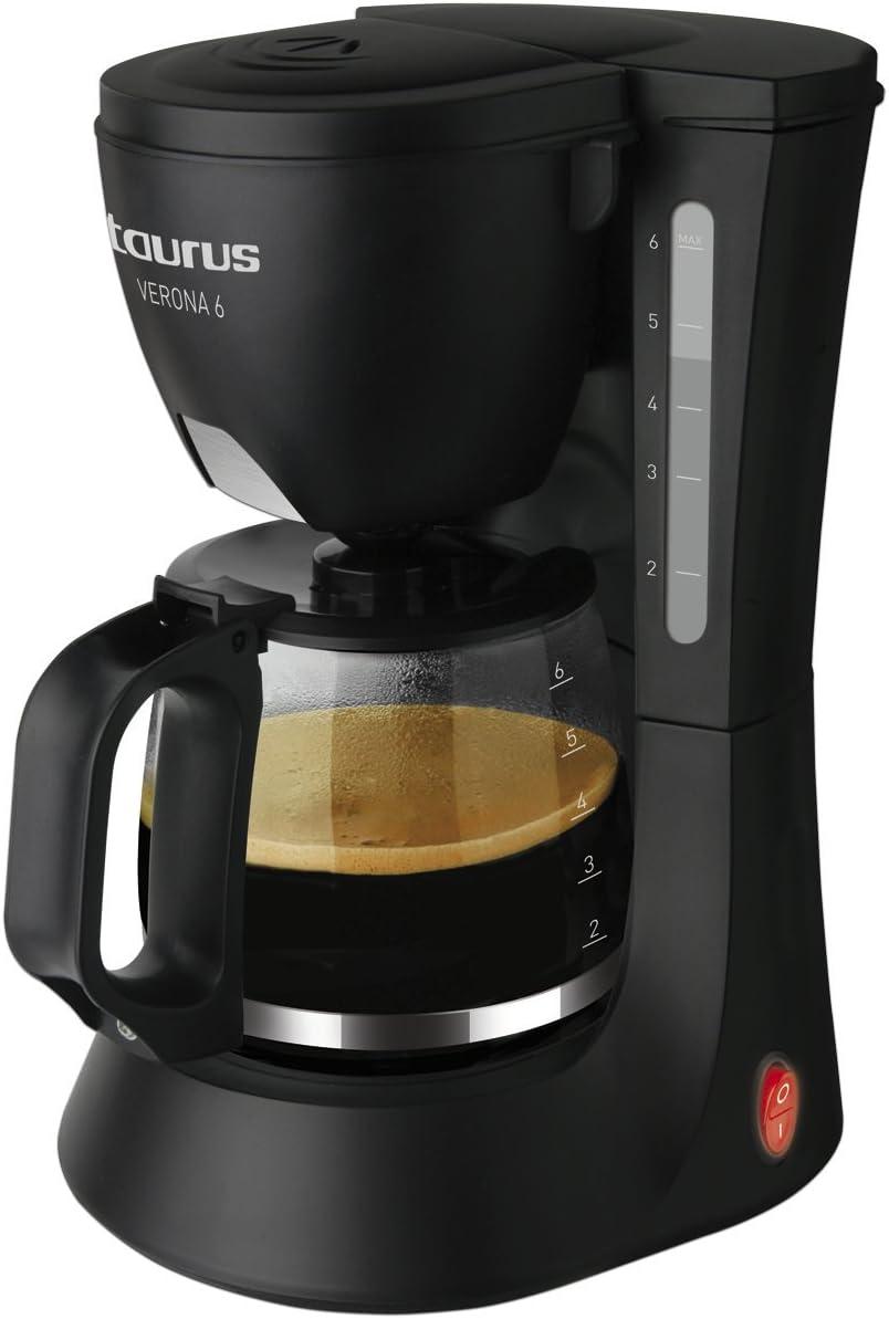 Taurus Verona 6 - Cafetera de goteo, 600 W, capacidad 6 tazas ...