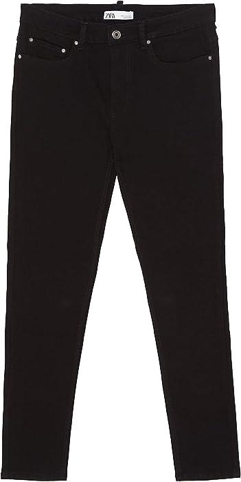 5bf5fbbc6d Zara Men Basic Skinny Jeans 5575/498 (38 EU) Black at Amazon Men's ...
