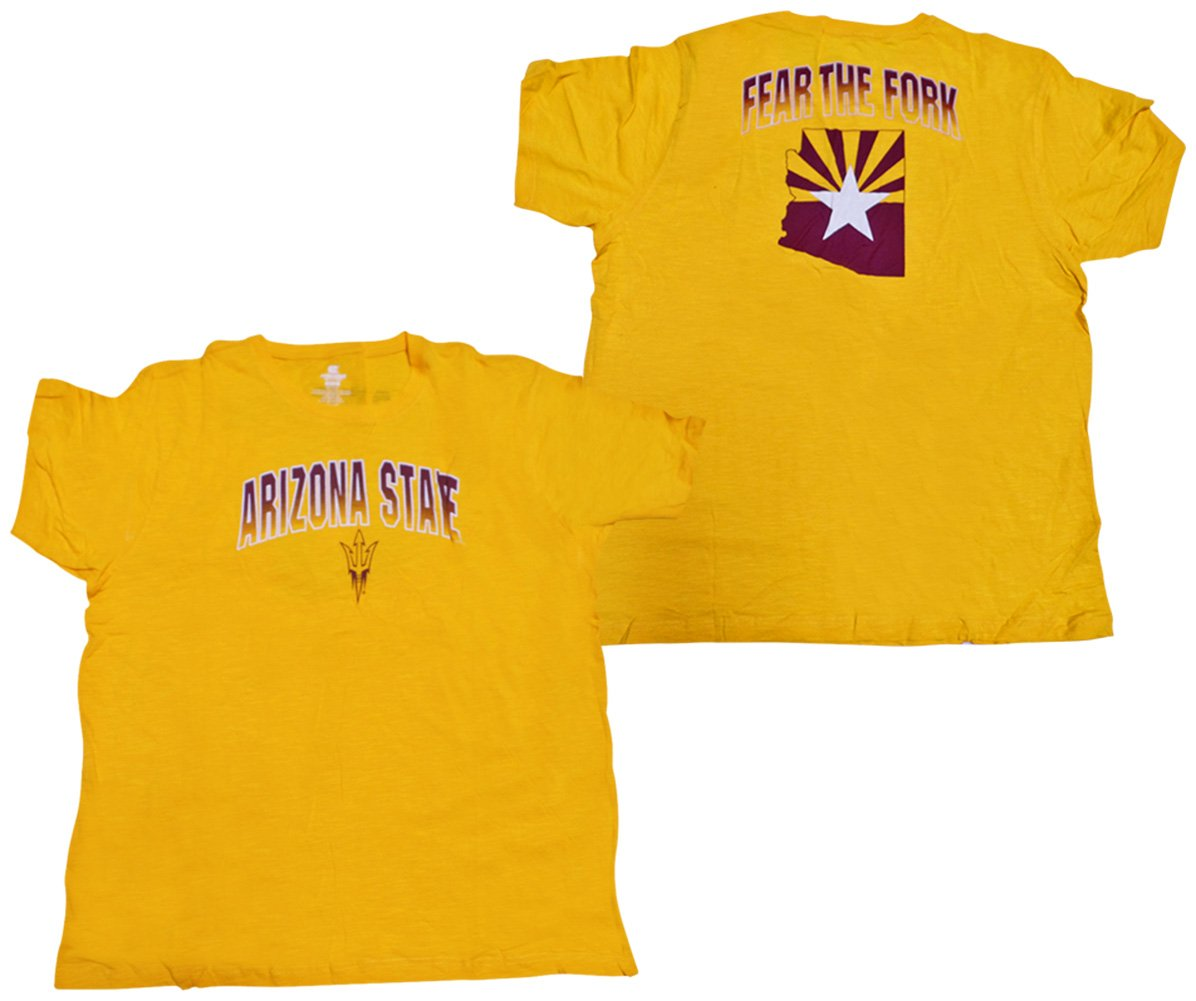 698bc3dc88 Amazon.com : Arizona State University Sun Devils Golden Boy Men's T-Shirt :  Clothing