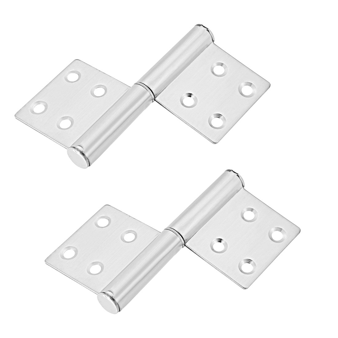 uxcell Stainless Steel Hinge Silver Tone Window Gate Door Flag Hinges 4.2'' Long 2 Pcs