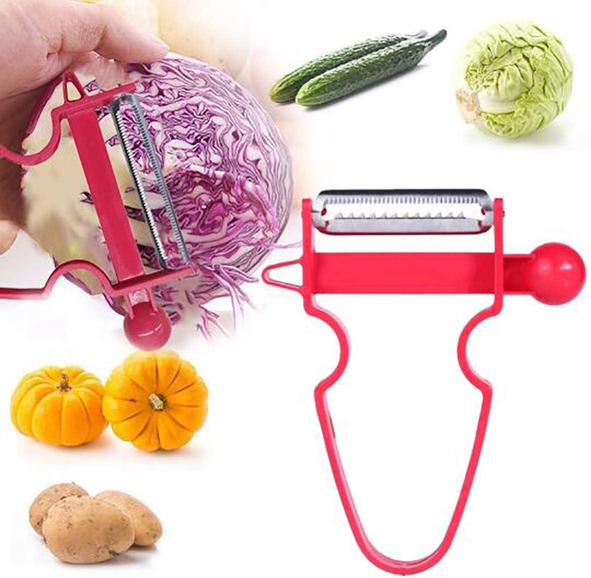 Patatas Cebolla Queso Frutas JUNRONG Magic Trio Peeler Set de 3 peladores de Naranjas universales para Verduras