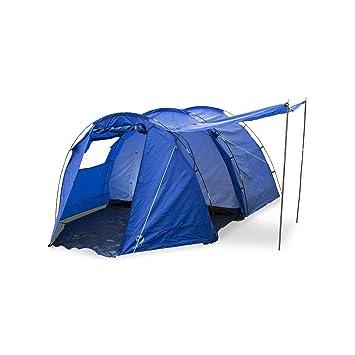 Yukatana Jomida Tienda campaña túnel para 4 personas 260x150x410 cm (camping, poliéster impermeable 3000mm