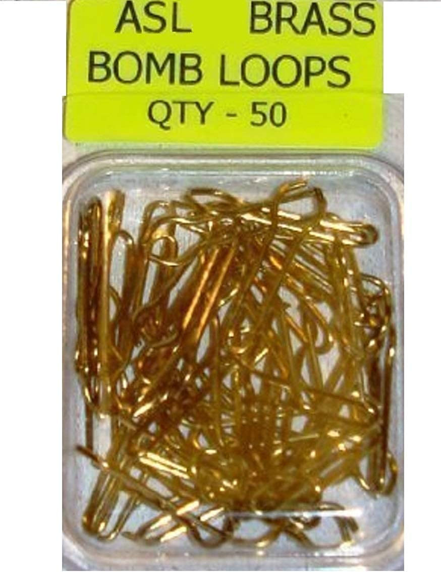 100 SAKUMA BRASS LEAD WEIGHT MOULD LOOPS FOR COARSE SEA FISHING LEADS WEIGHTS