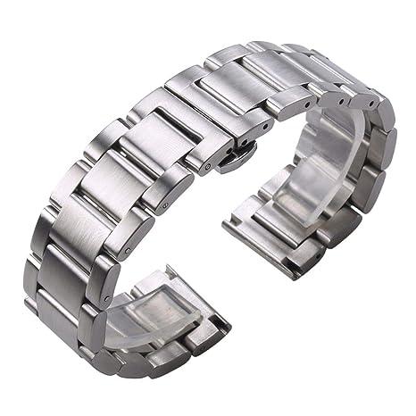 Correa de reloj de acero inoxidable 316L macizo de 18 mm, 20 ...
