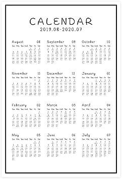 FJXQCY Sencillo Calendario de Escritorio Calendario 2020 ...