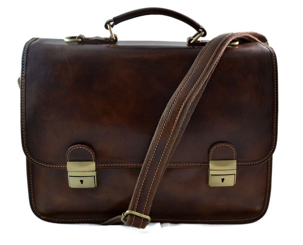 Mens leather bag shoulderbag genuine leather briefcase messenger brown business document bag ladies executive bag leather office bag