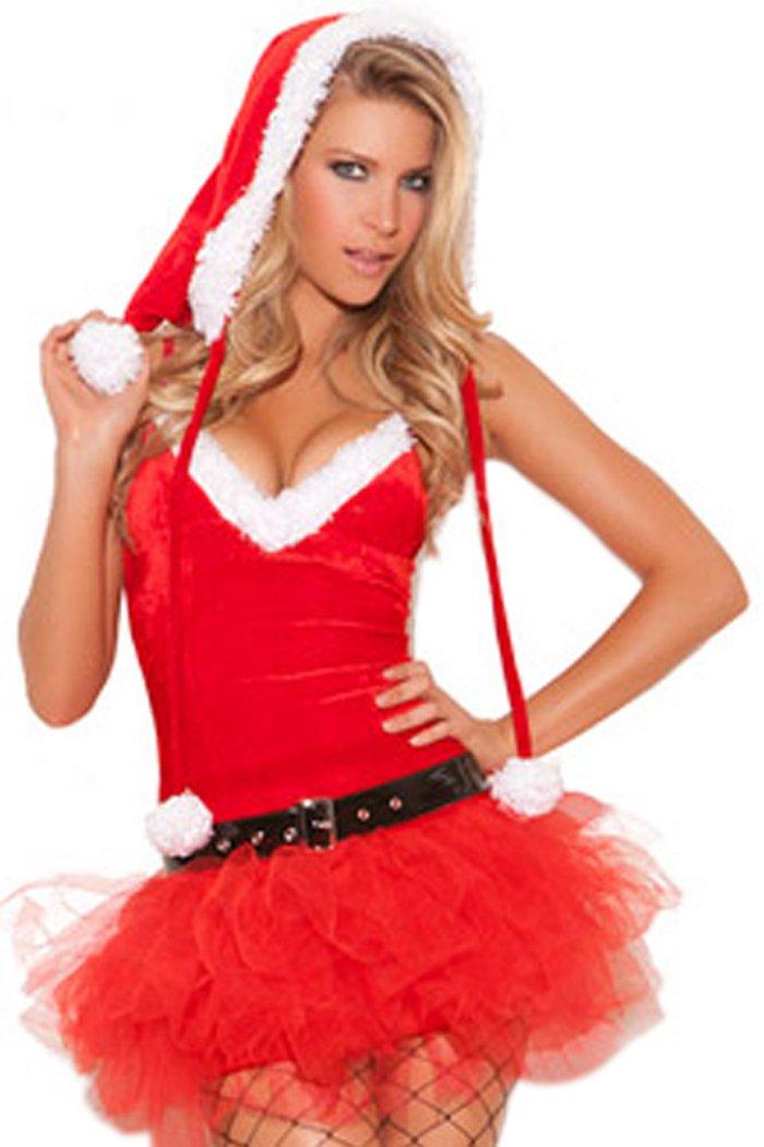 YeeATZ Christmas Sleeveless Low-cut Sexy Games Nightclubs